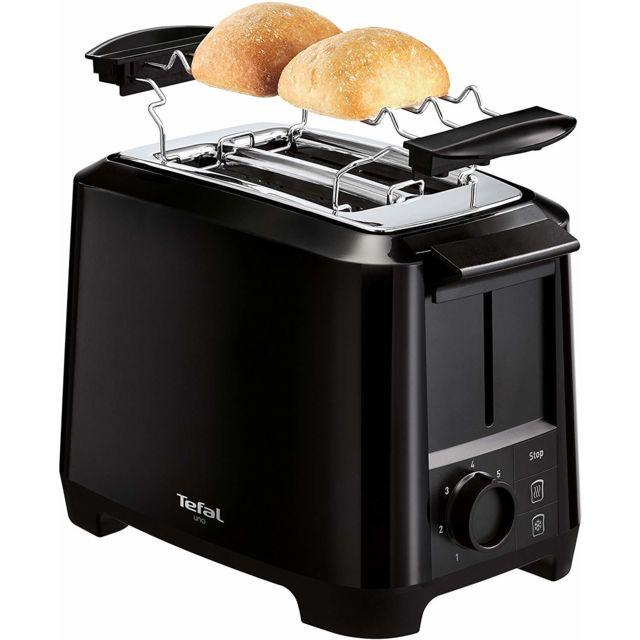 Tefal Grille pain avec 2 fentes 800W noir