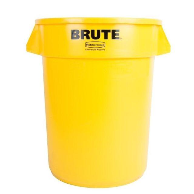 Rubbermaid - Conteneur Brute rond jaune 121L - pas cher Achat ...