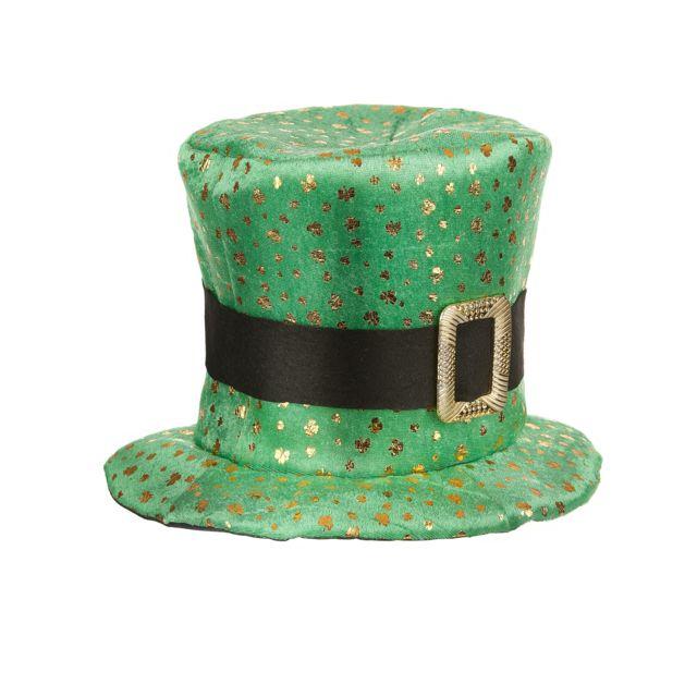 Sans - Chapeau haut de forme Saint Patrick trèfles dorés Adulte - taille - Taille  Unique 74510f15900
