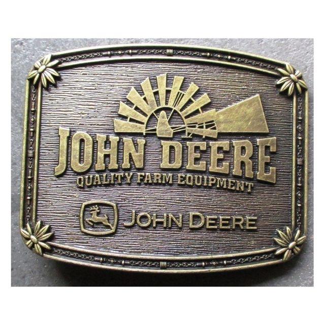 9b9be221cb15 Universel - Boucle de ceinture john deere couleur bronze tracteur ...