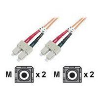 Digitus - Patch-Kabel - Sc multi-mode M, bis Sc multi-mode M 1 m - Glasfaser - 50/125 Mikrometer