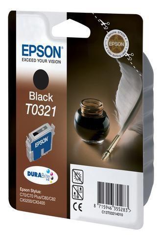 Epson Cartouche imprimante jet d'encre noire T0321 - C13T032140