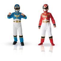 Power Rangers - 154656M - Costume - Bi Pack - Taille M - Rouge Et Bleu
