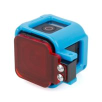 Wewoo - Cadre de protection bleu pour la session GoPro Hero5 / Session Hero4 / Session Hero Low-Frame Frame Mount avec filtre
