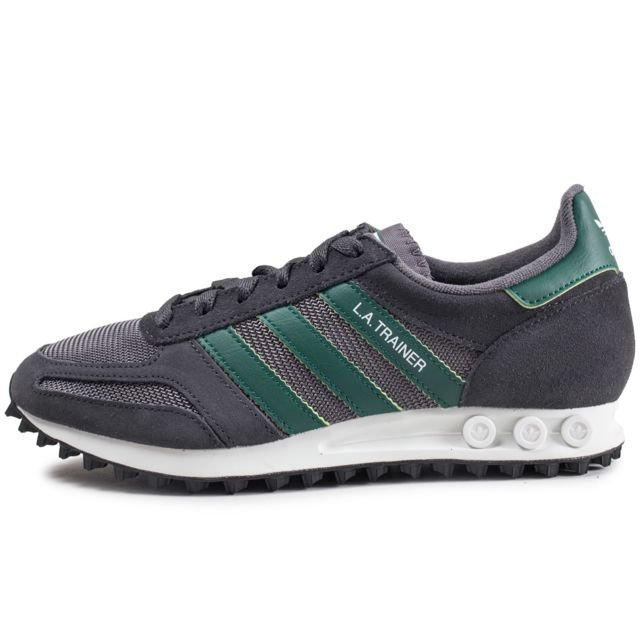 d362796b13bb5 Adidas originals - La Trainer Gris Carbone Et Vert - pas cher Achat ...