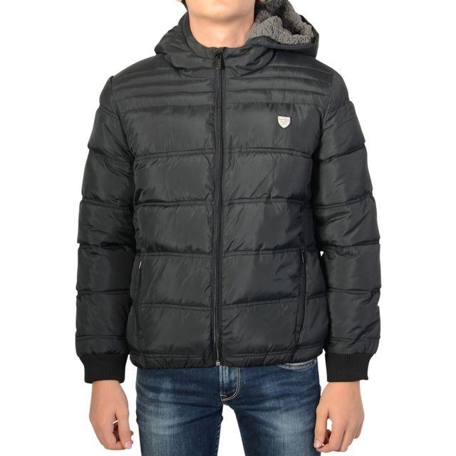 f110708270c Pepe Jeans - Doudoune Camerons 999 Black - pas cher Achat   Vente Blouson  homme - RueDuCommerce