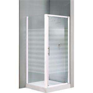 Novellini porte de douche pivotante verre transparent lunes g 66 72 c - Porte de douche 90 cm pas cher ...