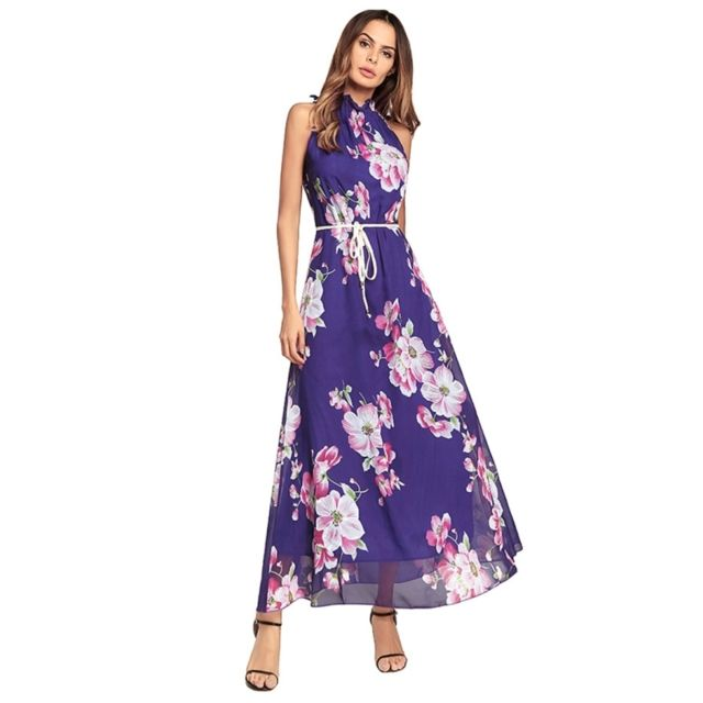 3c21f0204 Wewoo - Robe Femme Violet 2018 Nouvelles Femmes Mode Sexy Style ...