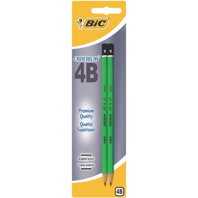 Bic - Lot de 2 crayons à papier Criterium 4B - Pointe moyenne