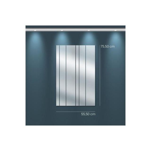 Declikdeco Miroir rideau Mm argenté en verre Tomo 76 x 56 cm