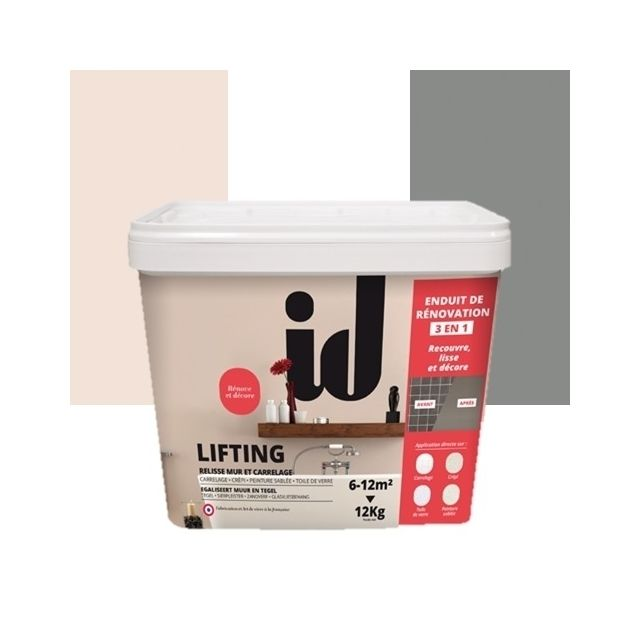 id paris lifting mur carrelage 12kg beton enduit de r novation d coration int rieur. Black Bedroom Furniture Sets. Home Design Ideas