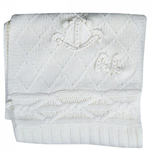 8a38c08dd5cb Ralph Lauren - Echarpe tricotée en laine blanc crème pour femme - pas cher  Achat   Vente Etoles, châles - RueDuCommerce