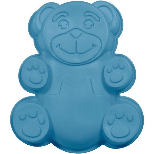 Promobo Moule à Gateau en silicone Ourson Forme Ludique Animal Bleu