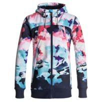 Roxy - Frost Sweat Zip Capuche Femme - Taille L - Bleu