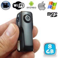 Yonis - Mini camera espion WiFi android iPhone babycam vidéo Micro Sd Usb 8Go