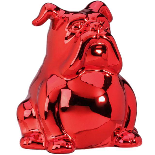 Sudtrading Tirelire Chien en Céramique - Rouge