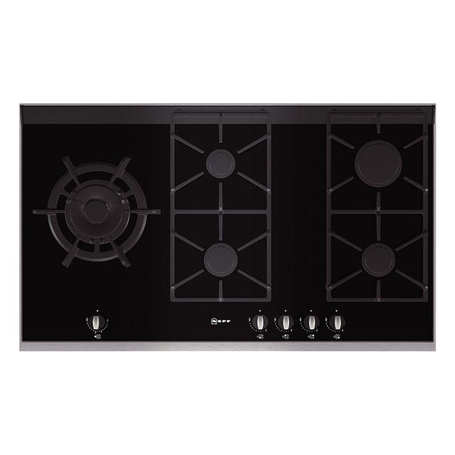 neff t69s86n0 - table de cuisson gaz 5 feux 90cm noir - achat