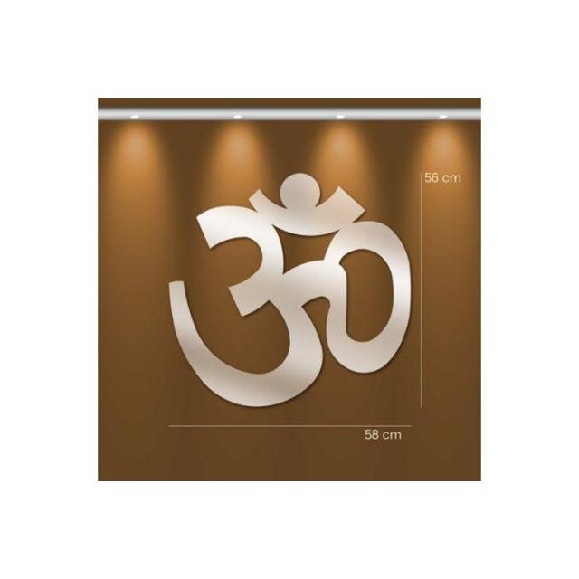 Declikdeco Miroir bouddhisme Gm argenté en verre Tao 56 x 58 cm