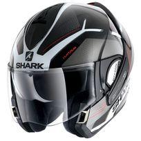 Shark - casque intégral modulable en jet Evoline 3 Hataum Kwr moto scooter noir gris rouge L