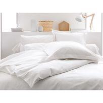 Parure de lit housse de couette + taie + drap housse uni 100% coton 57 fils/cm2 Plain - Chantilly - 140x200cmNC