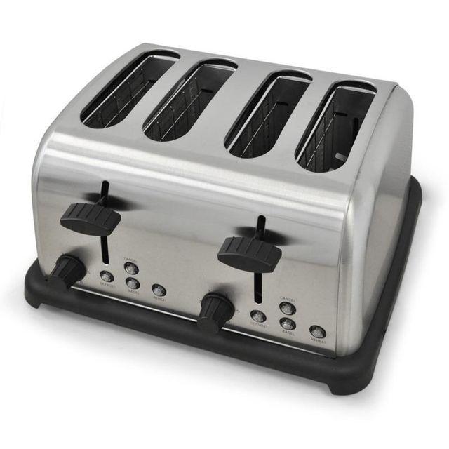 KLARSTEIN Toaster 4 tranches 1650W inox argent