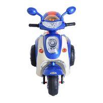 HOMCOM - Moto scooter électrique pour enfants 6 V env. 3 Km/h 3 roues et topcase effet lumineux et sonore bleu neuf 34