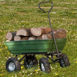 idmarket chariot remorque de jardin vert basculant pas cher achat vente chariots. Black Bedroom Furniture Sets. Home Design Ideas