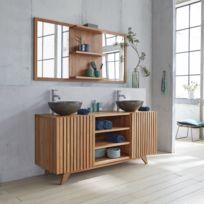 Meuble salle de bain bois - Achat Meuble salle de bain bois - Rue du ...