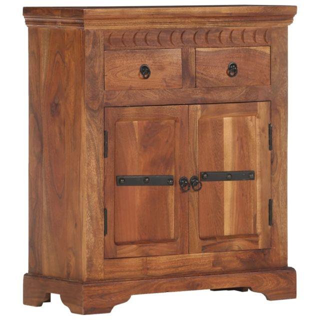 Vidaxl Bois d'Acacia Massif Buffet 63x30x75 cm Commode Armoire Salon Maison