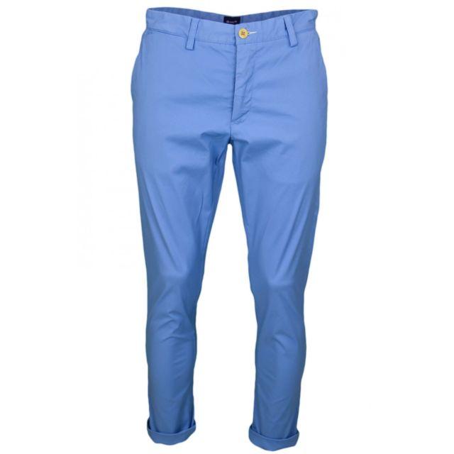 Gant - Pantalon chino bleu slim pour homme