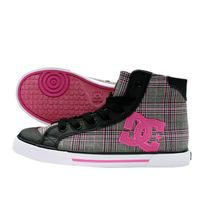 Dc Sneakers Femme Chelsea Mid Black / Crazy Pink Plaid