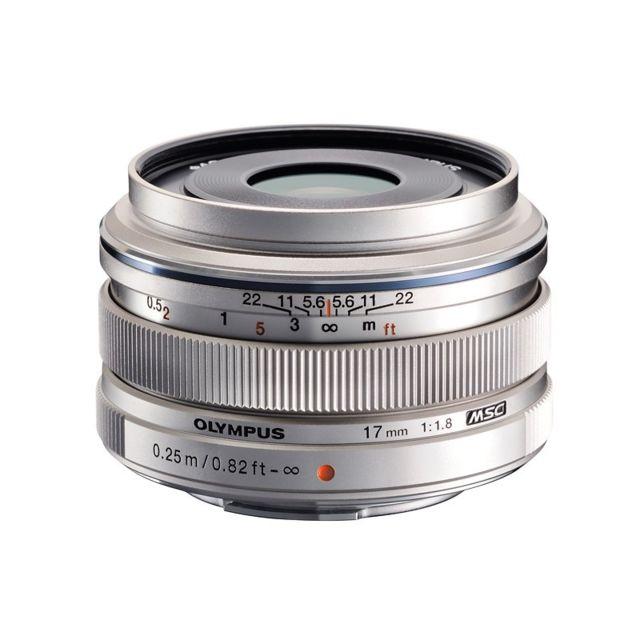 Olympus Objectif M.ZUIKO 17 mm f/1.8 Silver Garanti 2 ans