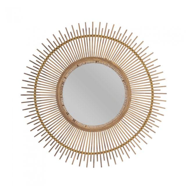 TABLE PASSION Miroir en bambou Soleil Patong 60 cm