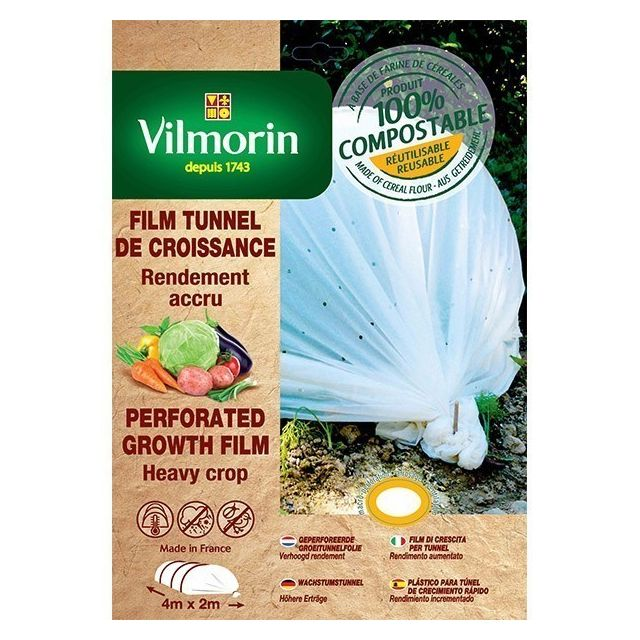 Vilmorin - Film de croissance perforé - farine de céréales - 2m x 8m 20µm
