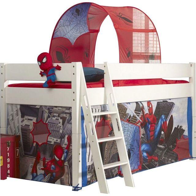 comforium lit mi hauteur 90x200 pour enfant design spiderman pas cher achat vente. Black Bedroom Furniture Sets. Home Design Ideas