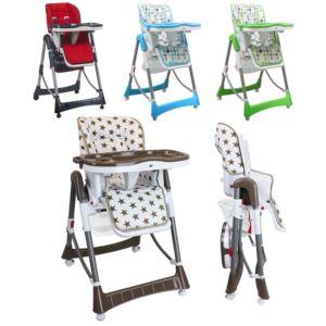 monsieur bebe chaise haute b b pliable r glable hauteur dossier tablette pas cher achat. Black Bedroom Furniture Sets. Home Design Ideas