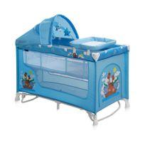 Lit parapluie bébé Lit pliant + mode Lit à bascule Nanny 2+ R bleu