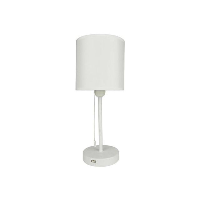 Millumine Lampe De Chevet Chic Blanche Connect Avec Port