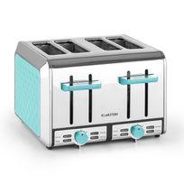 KLARSTEIN - Curacao Azur Grille-pain 4 fentes acier 1500 watts - bleu