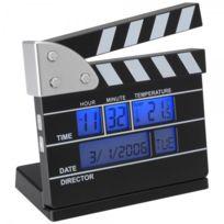 La Chaise Longue - Réveil thermomètre Clap de cinéma