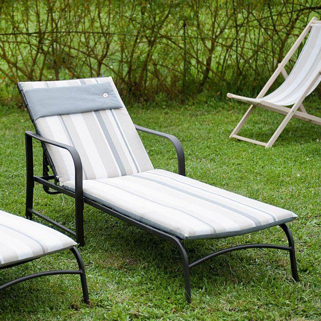 Jardin Prive Coussin Pour Bain De Soleil Avec Nouettes Infinity