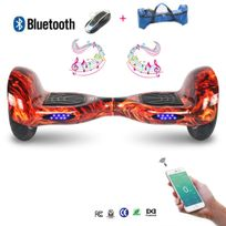 COOL AND FUN - Cool&FUN Hoverboard Bluetooth,Scooter électrique Auto-équilibrage,gyropode connecté 10 pouces Flame design