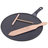 INVICTA - Kit crêpière avec spatule et râteau Ø30cm