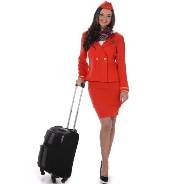 sans d guisement h tesse de l 39 air rouge femme taille small 232829 pas cher achat. Black Bedroom Furniture Sets. Home Design Ideas