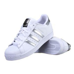 Baskets Adidas Superstar Homme Chaussures Basses AQ3091 Blanc/Argent IgO8R