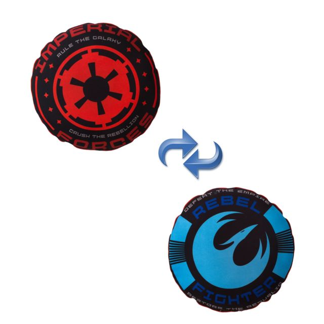 Character World - Coussin Insigne Imperial et Rebellion Star Wars Rebels Multicolore - 0cm x 0cm