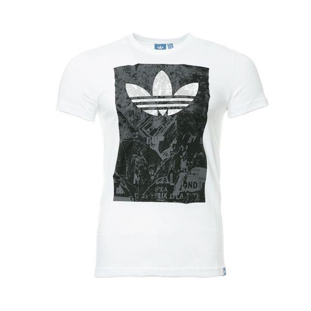 Tee shirt Blanc Homme Urban Multicouleur L