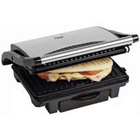 BESTRON - Gril à panini/viande: 1000W - Inox Récupérateur de graisse intégrée