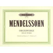 Edition Peters - Partitions Classique Mendelssohn Felix - Organ Works Op.37 - Organ Orgue