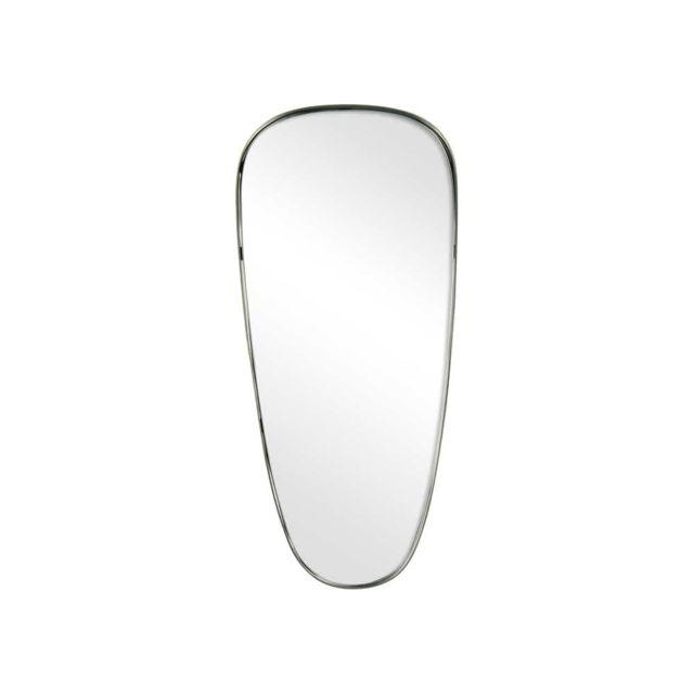 Pomax Miroir original irrégulier en métal étain 60x26x3cm Colomba